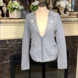 White house black market Moto style gray jacket